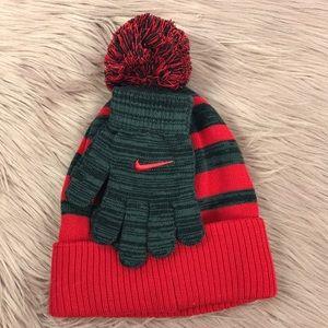 cb1355a306e Nike Accessories - Nike Kids Striped Beanie Gloves - 2 Piece Set
